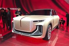 红旗E115概念车亮相 霸气造型气场超强 定位纯电动大型SUV