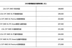 配备L2阶段驾驶辅助系统 2020款奇骏售18.88万起