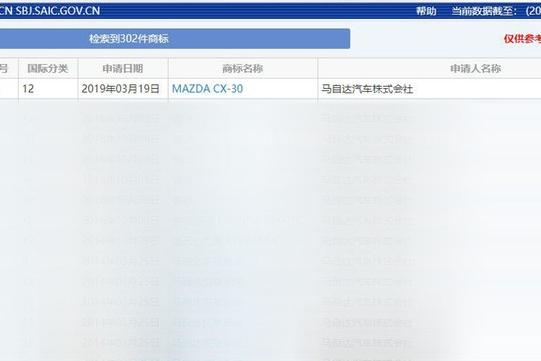 长安马自达明年将国产CX-30 定位入门紧凑型SUV/轴距超逍客
