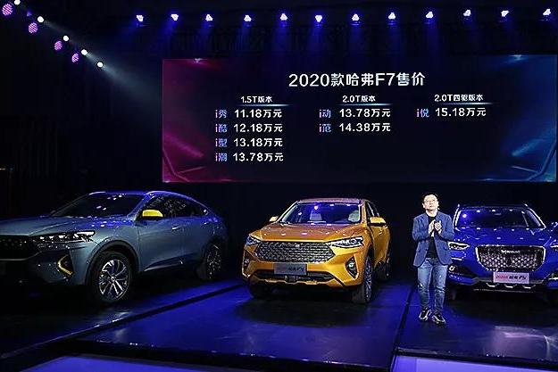 哈弗新款F7/F7x性能版上市,年轻人买车又多了几个选择!