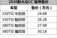 2.0T+7DCT 一汽-大众新款CC售24.68万起