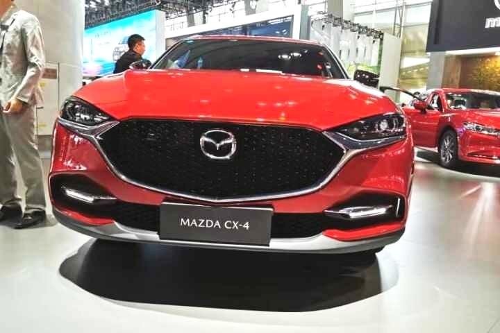 【2019广州车展】新款马自达CX-4亮相车展,造型更运动