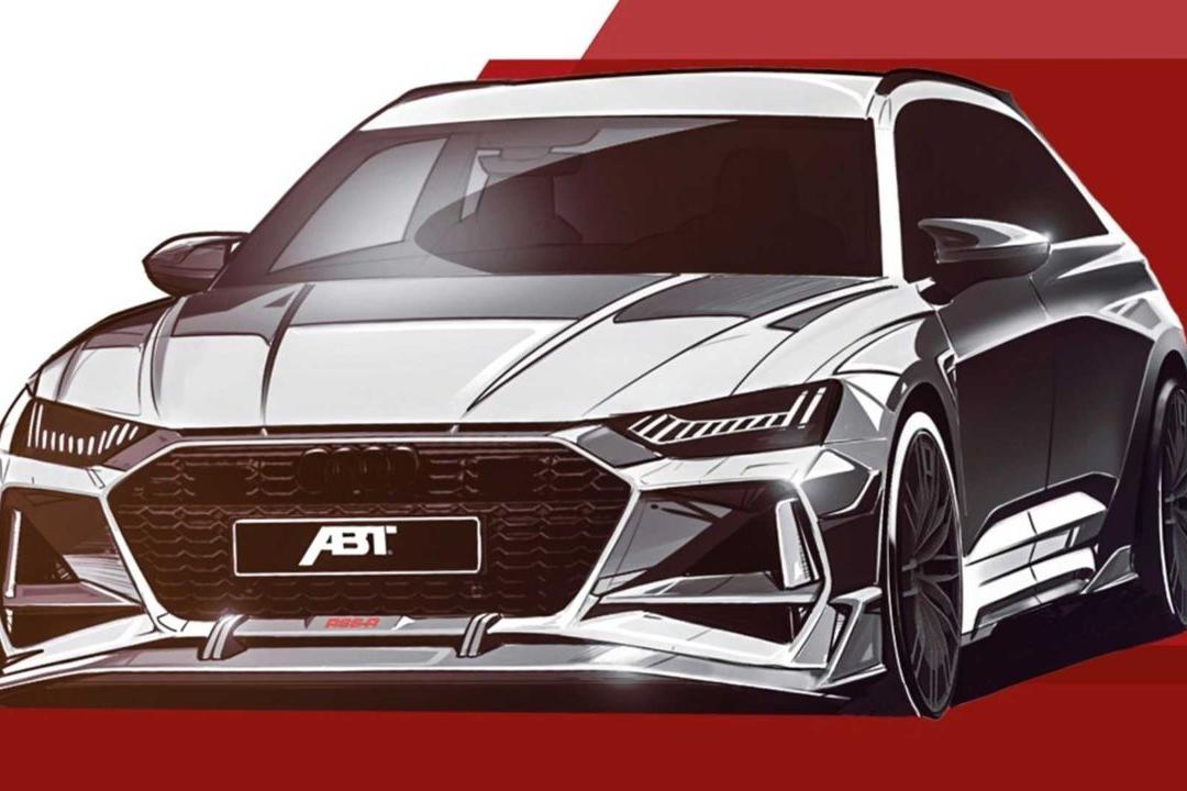 2020款奥迪RS6 ABT渲染图