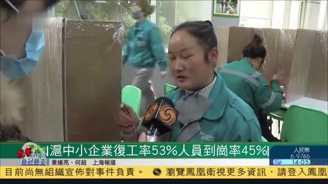 上海大企业复工率近95,企业网上填报复工人员信息