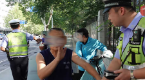 """河北石家庄交警对非机动车违法说""""不"""""""