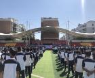 燃爆了!商丘中學2019級新生軍訓閉營儀式