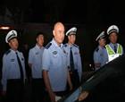 商丘交警支隊聯合特警、治安多警種開展夜查嚴重交通違法集中整治統一行動