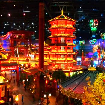 南京万达乐园里的新世界