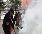 商丘市機關事務中心舉辦消防技能比賽