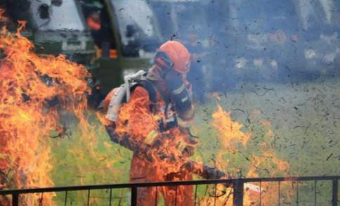 吉林森林消防总队开展实战训练大比武