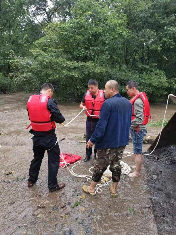受降雨影响宝清县各河流水位上涨