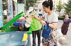西安两小区率先在全市开展垃圾分类定时定点投放