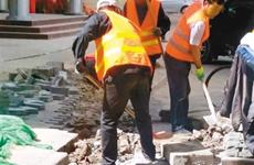 擅自挖掘城市道路 西安施工大发大发北京快3北京 快3公司 被罚36万余元