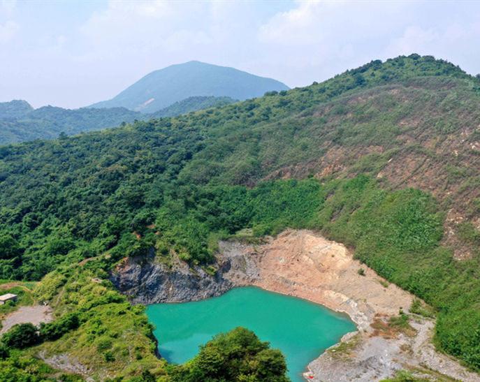 安徽铜陵:矿山生态修复 再现绿水青山