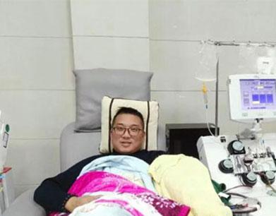萍乡献血达人侯兵 17年献血14万毫升