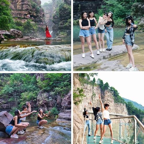 第一次和朋友旅行 她们选择了云台山