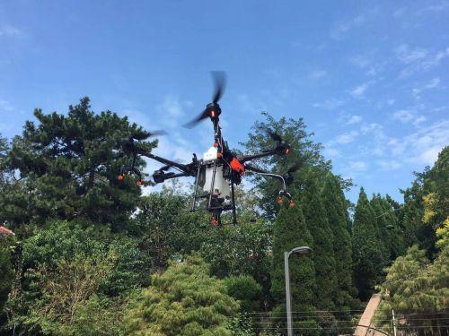 市北区引进植保无人机 为现代园林养护助力