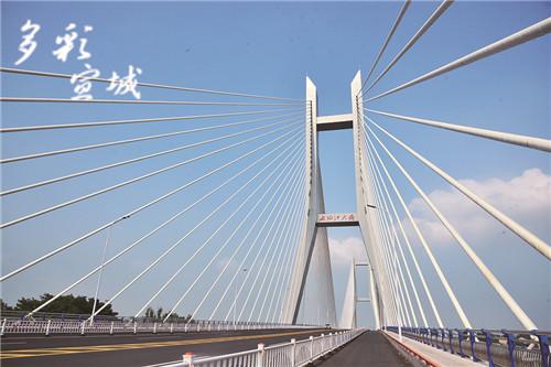 宣城新桥建设如火如荼 长桥宛若彩虹