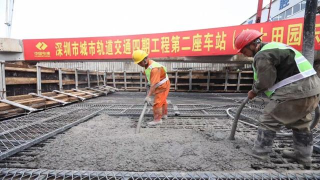 深圳:地铁12号线海上田园东站主体封顶 预计2022年通车