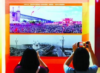 """南京长江大桥的中国记忆 通车照片和模型成""""网-郑州小程序开发"""