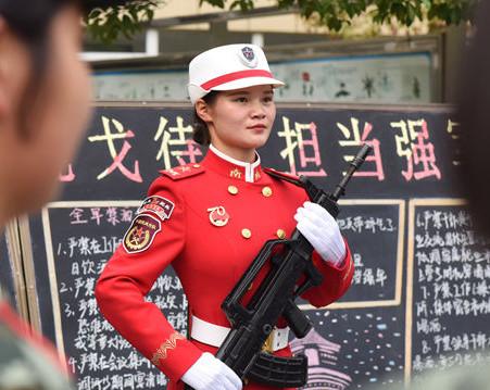 徽眼第77期|她从阅兵场走向武警合肥支队