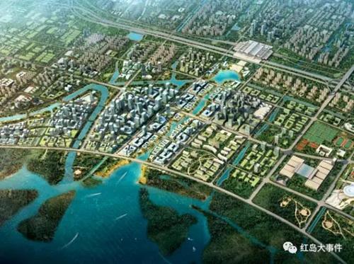 红岛经济区西片区规划图