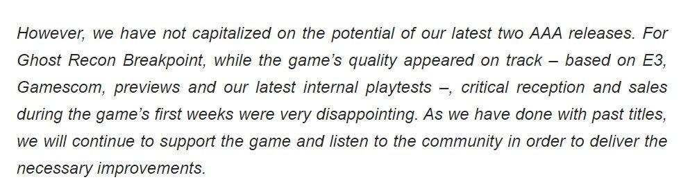 育碧承认《幽灵行动:常人歌歌词断点》《全境2》暗示受挫