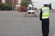西安高速交警启用直升飞机开展空中常态化巡航