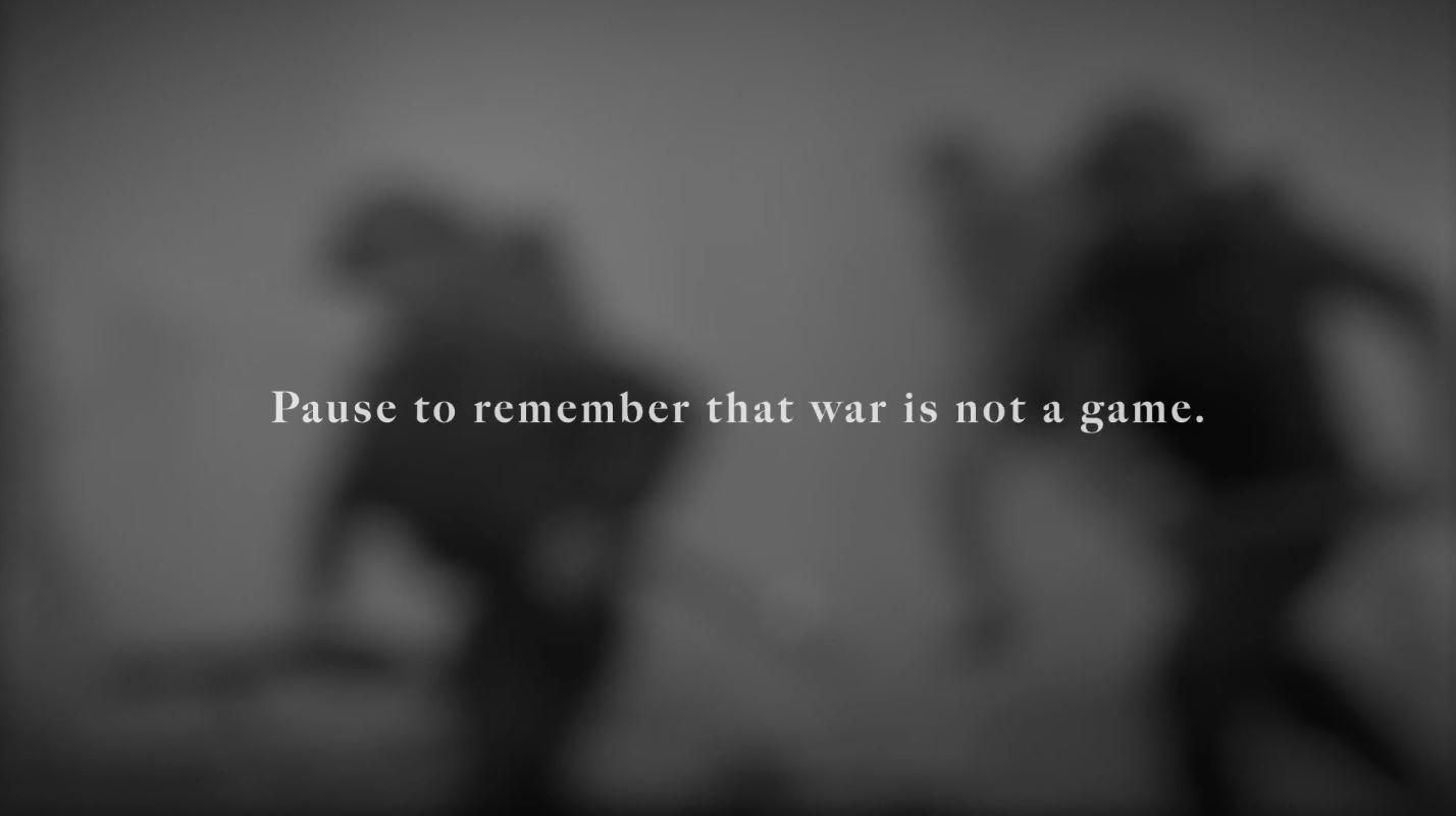 """加拿大退伍军人倡议11/11在游戏里面""""暂时停火"""""""