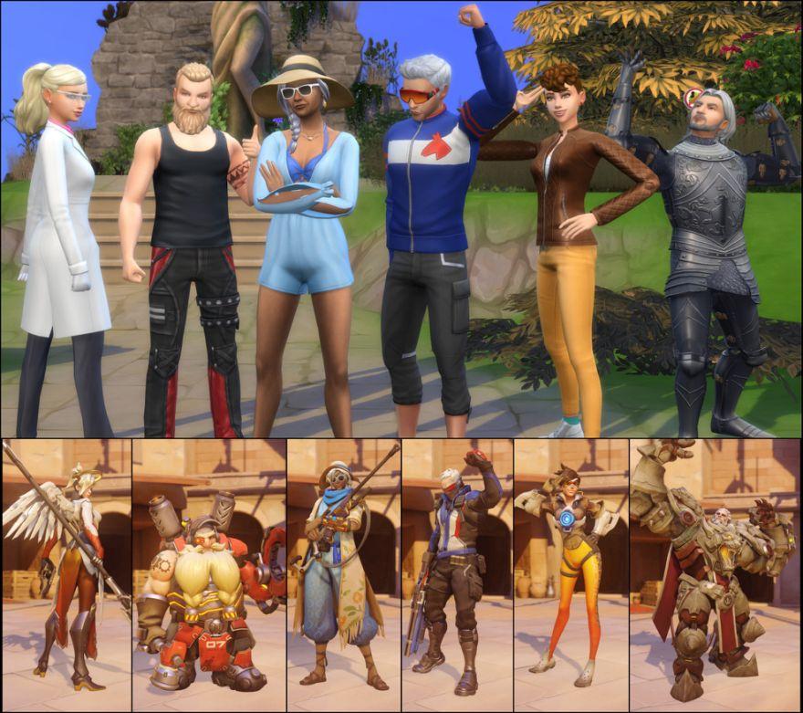 超强玩家利用《模拟人生4》做出了《守望先锋》