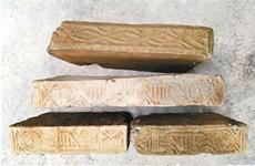 陕西西乡工人施工挖出汉墓古砖古钱
