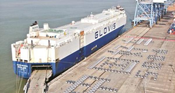 全国最大批量二手车从广州港出口西非