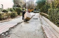 暖气管道改造完破损路面影响出行 西安业主盼路面早修复