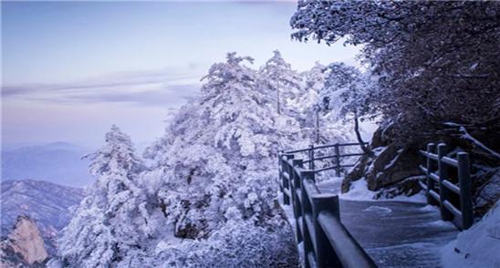 尧山迎初雪 银装素裹美到心坎儿