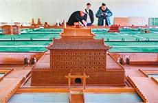 八旬老翁花20年建成一座西安城 作品全部由榫卯结构制成