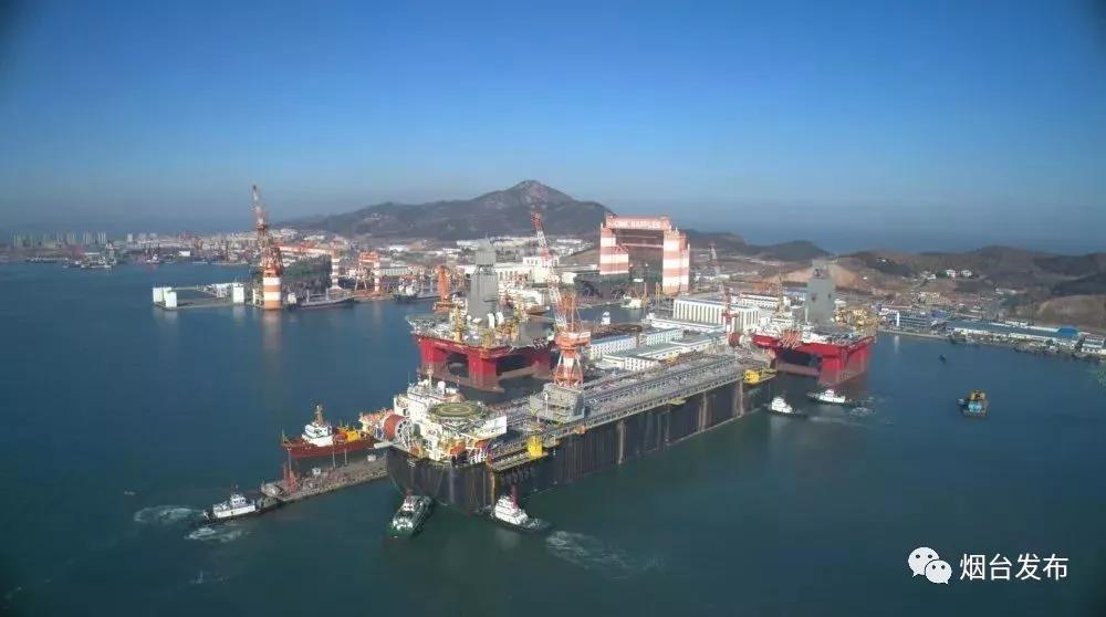 刷新最大吨位出港记录!烟台造海上石油装备启航奔巴西