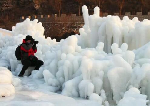 红旗渠冬季冰雪大片震撼来袭