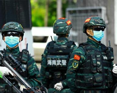 组图丨新春佳节 数百名武警官兵坚守一线保平安
