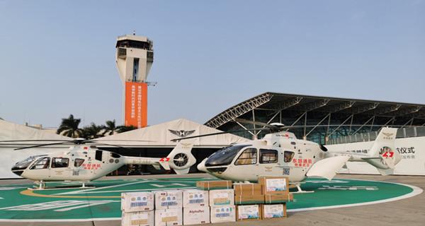 深圳首次出动直升机向武汉转运防疫物资