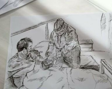"""这个高中生是方舱住院患者 他将""""最美""""的画送给""""最可爱""""的人"""