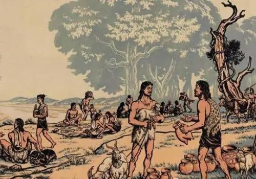 """原始社会""""物物交换"""" 资料图片来源网络"""