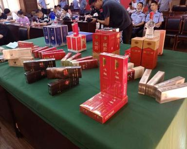 杭州破获特大产销假烟酒案