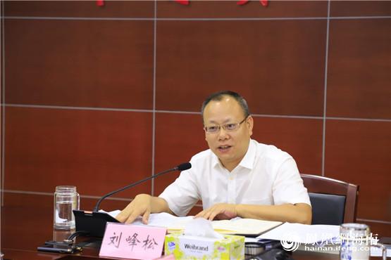 定安县委书记刘峰松主持召开县委常委会会议专题研究推进项目建设工作