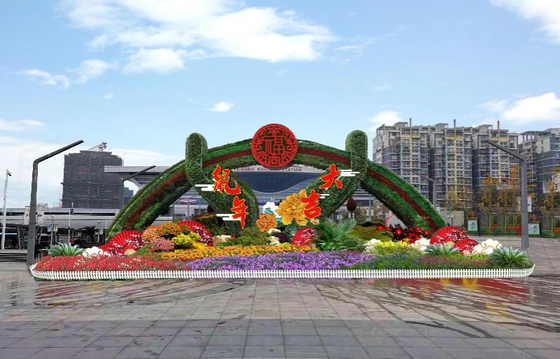 宁波城区100余万盆鲜花装扮鼠年春节