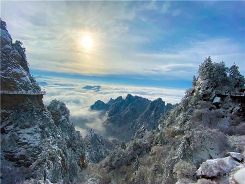 看雾淞、观雪景 老君山美不胜收