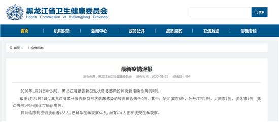 新增5例!黑龙江新型冠状病毒感