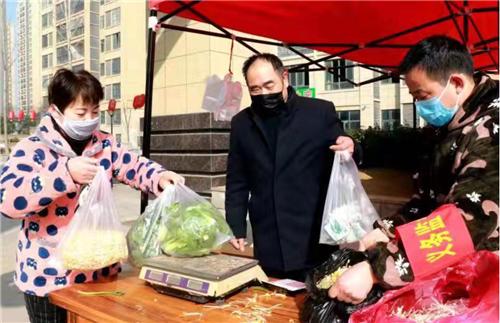安徽涡阳:平价蔬菜送到家门口