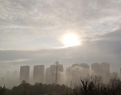 江西多地清晨雾气缭绕