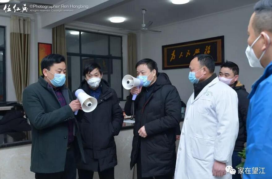安徽望江:坚决打赢阻击战 慈湖党群在行动