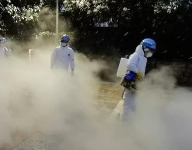 """江西志愿者进入武汉市区开始消杀"""""""